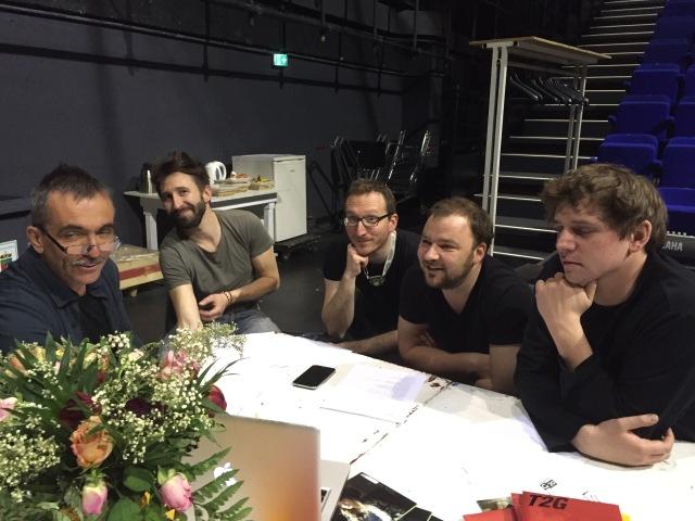 De gauche à droite : Philippe Béziat, Julien Ravoux, Antoine Planchot, Thomas Gillot et Guillaume Klein.